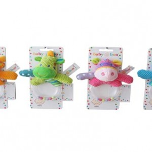 Plush Animal Hand Rattles - Baby Boo