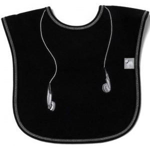Black Headphone Bib - Frenchie Mini Couture
