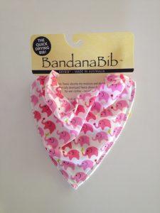 Pink Elephants Bandana DryBib