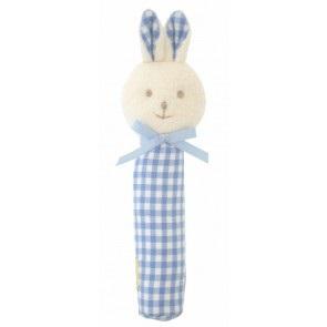 Blue Gingham Bunny Squeaker - Alimrose (2)