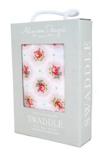 Pink Floral Muslin Swaddle - Alimrose