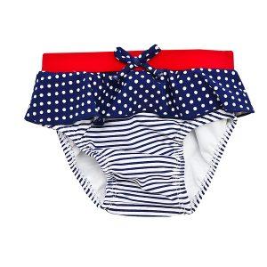 Girl's Swim Nappy Navy - Plum