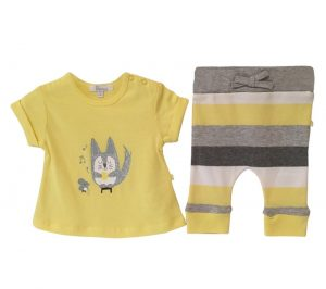 Cat and Mouse Tee with Stripped Leggings