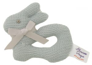 Bunny Knit Ring Rattle - Alimrose