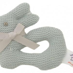 Bunny Knit Ring Rattle - Alimrose