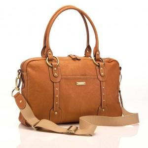Elizabeth Tan Leather Nappy Bag - Storksak