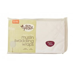 Muslin Swaddling Wraps 2Pk - Eco Sprout