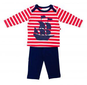 Pirate Ship Boy's Pyjamas - Plum
