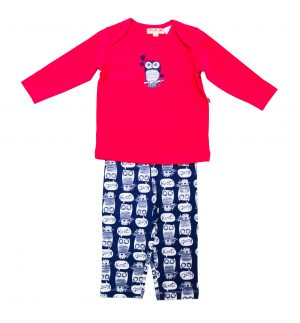 What a Hoot Girls Pyjamas - Plum