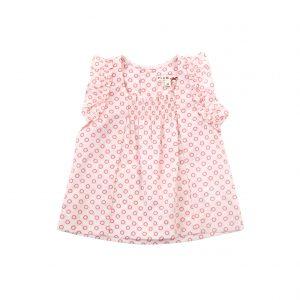 Little Girl's Sleeveless Frill Top - Plum