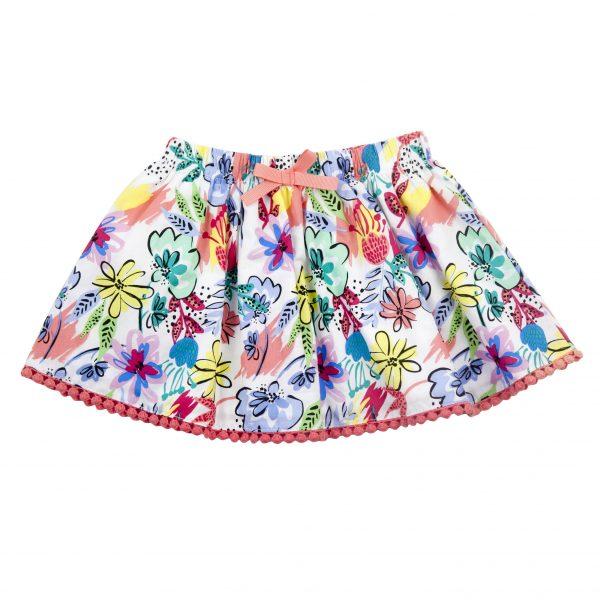 Little Girl's Tropical Skirt - Plum