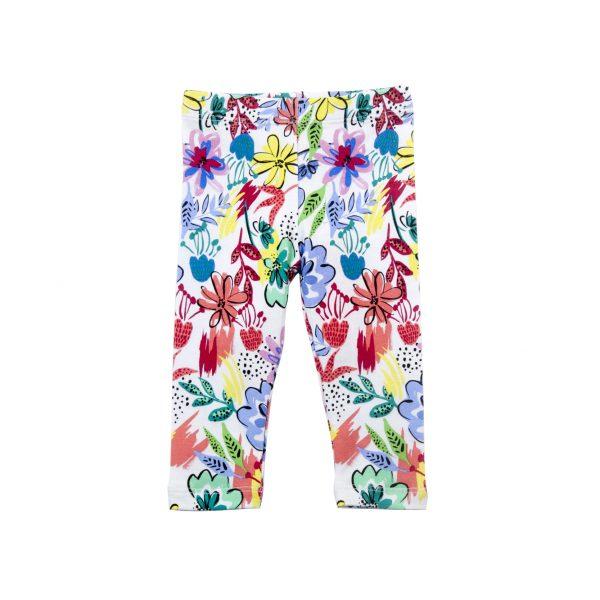 Toddler Girl's Tropical Leggings - Plum