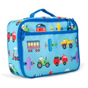 Lunch Bag Planes Trains Trucks - Olive Kids