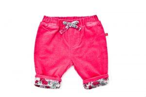 Girl's Pink Rose Cord Pant - Plum
