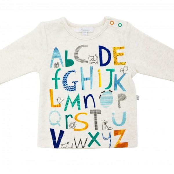 Alphabet Top - Plum