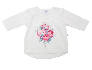 Floral Bouquet Girl's Top - Plum