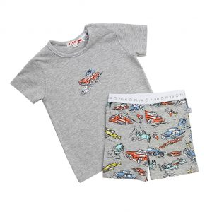 Boy's Car PJ's - Plum