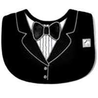 Tuxedo Bib - Frenchie Mini Couture