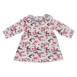 Toddler Floral Dress - Plum