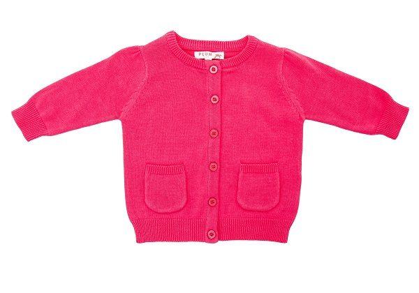 Toddler Girl's Cardigan - Plum
