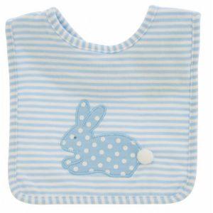 Blue Stripe Bunny Bib - Alimrose