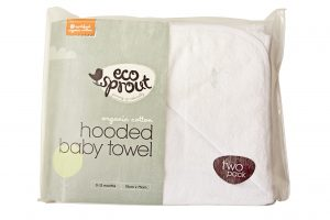Eco Sprout Organic Baby Hooded Towel 2PK