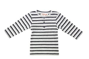 Little Boys Henley Tee - Plum