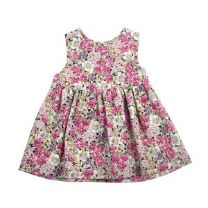 Little Girl's Floral Dress - Plum