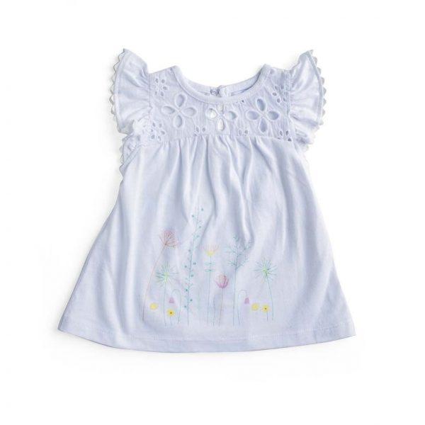 Little Girl's Cap Sleeve Dress - Plum