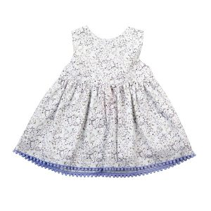 Little Girl's Lilac Floral Dress - Plum