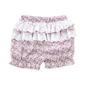 Little Girl's Shorts Back View - Plum