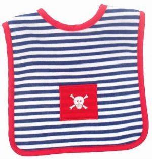 Navy Stripe Pirate Bib - Alimrose