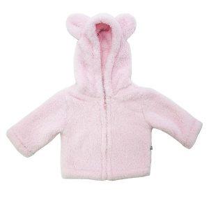 Pink Bunny Eared Hooded Jacket - Plum