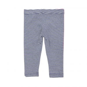 Little Girls Leggings Navy Stripe