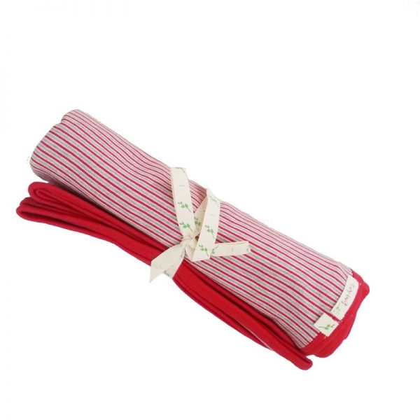Striped Bunny Rug Red - Tiny Twig