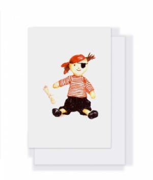 Boris The Pirate Card - Nana Hutchy