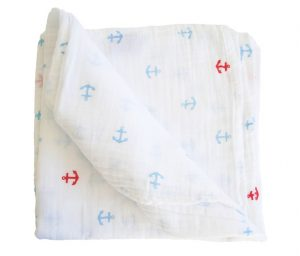 Alimrose Anchors Muslin Swaddle