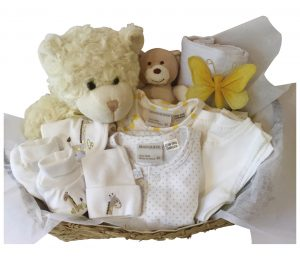 Charlie Bear Basket - Neutral