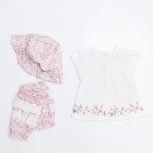 Floral Swing Top, Pants Hat Set