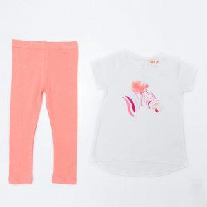 GIrl's Zebra Top and Watermelon Leggings