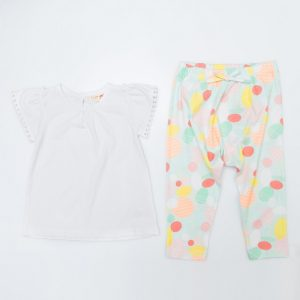Girls Tropical Pants and White Top