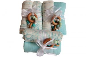 Swaddles And Teethers Gift Pack Aqua