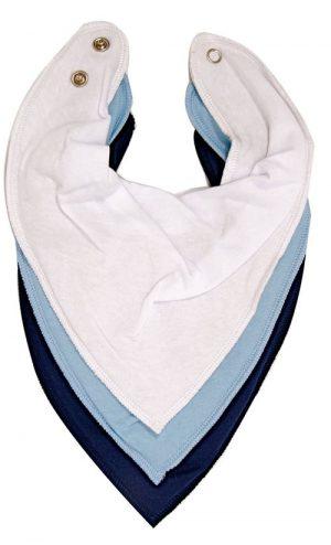 Bandana Bibs Blue 3Pkt - Dry Bib