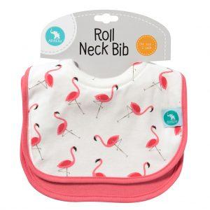Roll Neck Bibs Flamingos - All4Ella