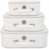 White Set 3 Child Suitcases - Alimrose