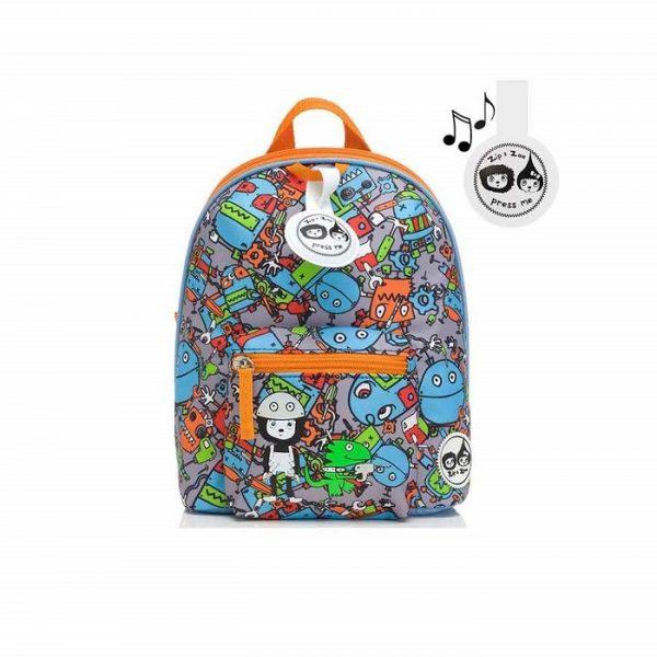 Zip & Zoe Mini Robots Backpack - Babymel