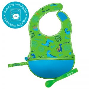 Blue Dinos Travel Bib - BBox