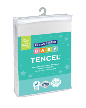 Tencel Fitted Cot Universal Mattress Protector 130cmx76cm - Protect a Bed