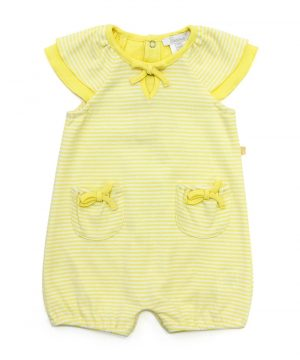 Cap Sleeve Bodysuit Yellow - Plum
