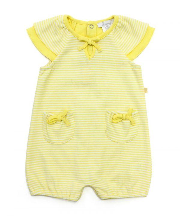 Cap Sleeve Bodysuit Yellow - Plum